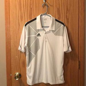 Adidas white golf shirt S